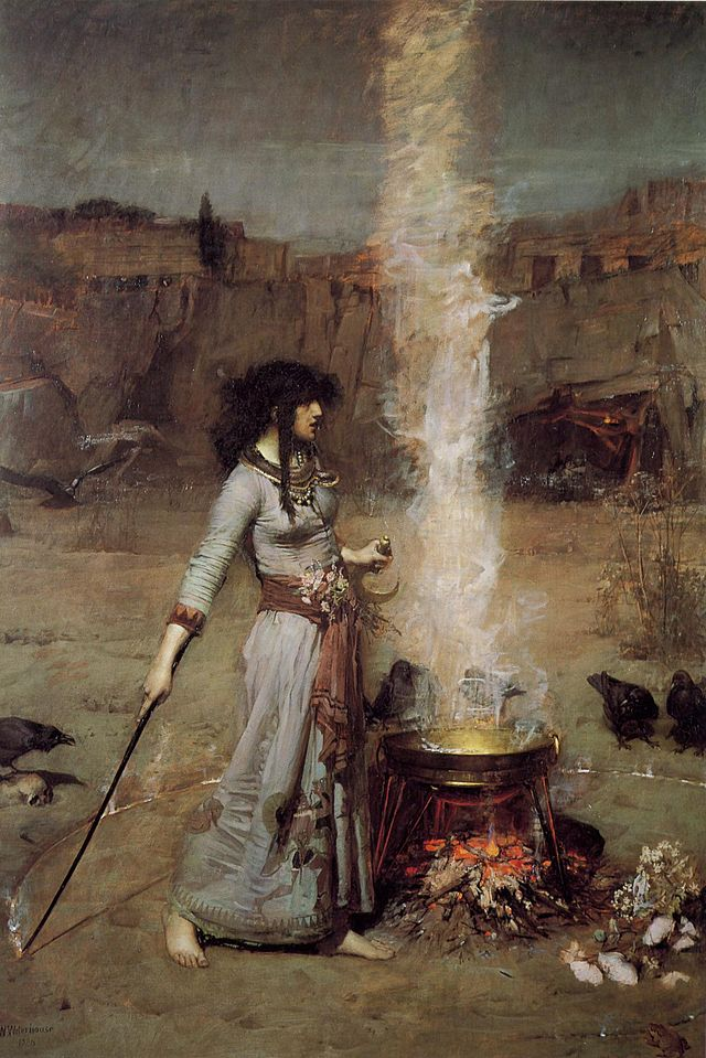The Magic Circle, John WIlliam Waterhouse