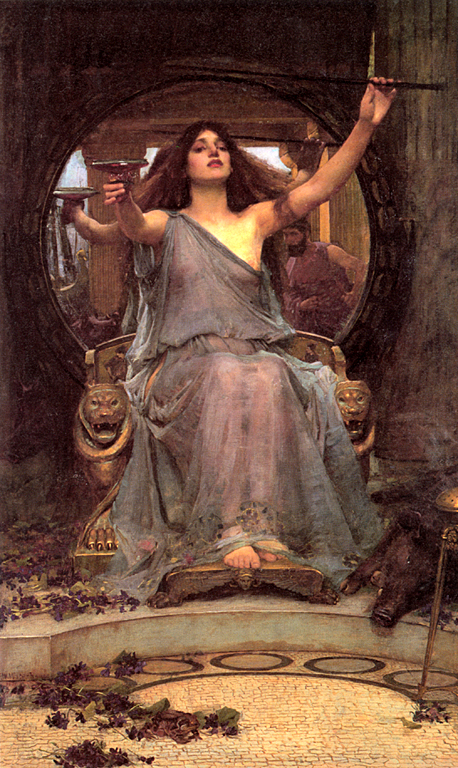 circe offering cup to ulysses, waterhouse