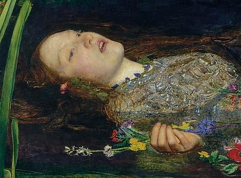 Ophelia by John Everett Millais (model: Elizabeth Siddal)