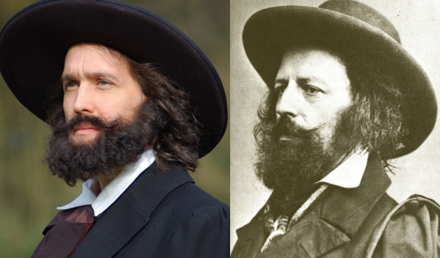 Left: Actor Ben Poole/ Right: Alfred, Lord Tennyson