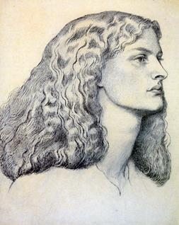 Annie Miller, drawn by Dante Gabriel Rossetti