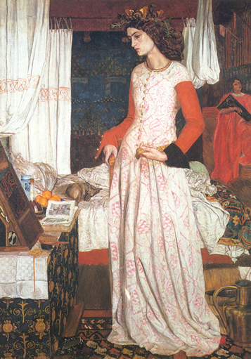 Queen Guinevere, painted in 1858 by William Morris