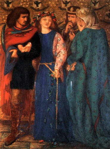 The First Madness of Ophelia, Dante Gabriel Rossetti