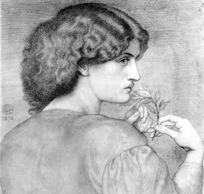 The Roseleaf, 1865, Dante Gabriel Rossetti