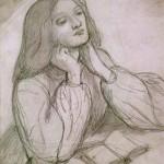 Elizabeth Siddal, drawb by Dante Gabriel Rossetti