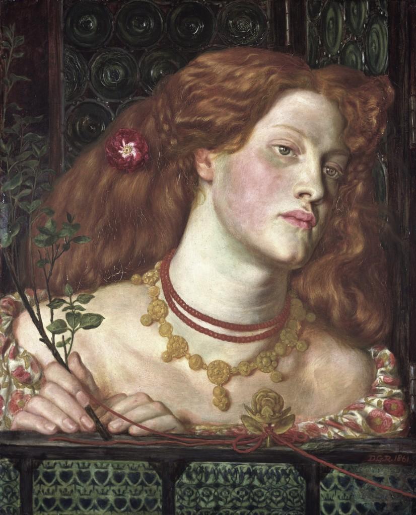 Fanny Cornforth as Fair Rosamund by Dante Gabriel Rossetti