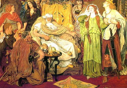 Pre-Raphaelite paintings of King Lear