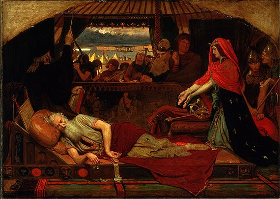 Ford Madox Brown: Cordelia at the Bedside of Lear