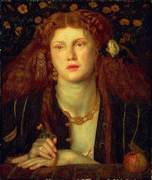 Fanny Cornforth in Dante Gabriel Rossetti's Bocca Baciata
