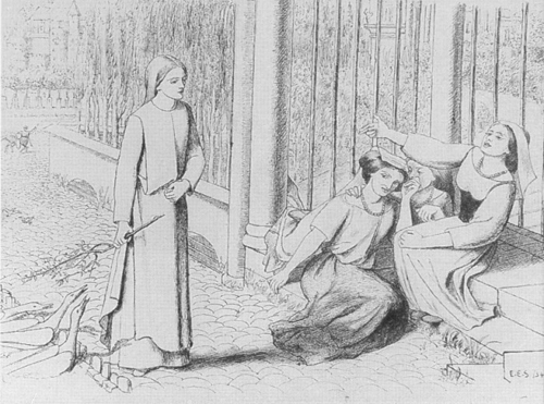 Pippa Passes drawn by Elizabeth Siddal