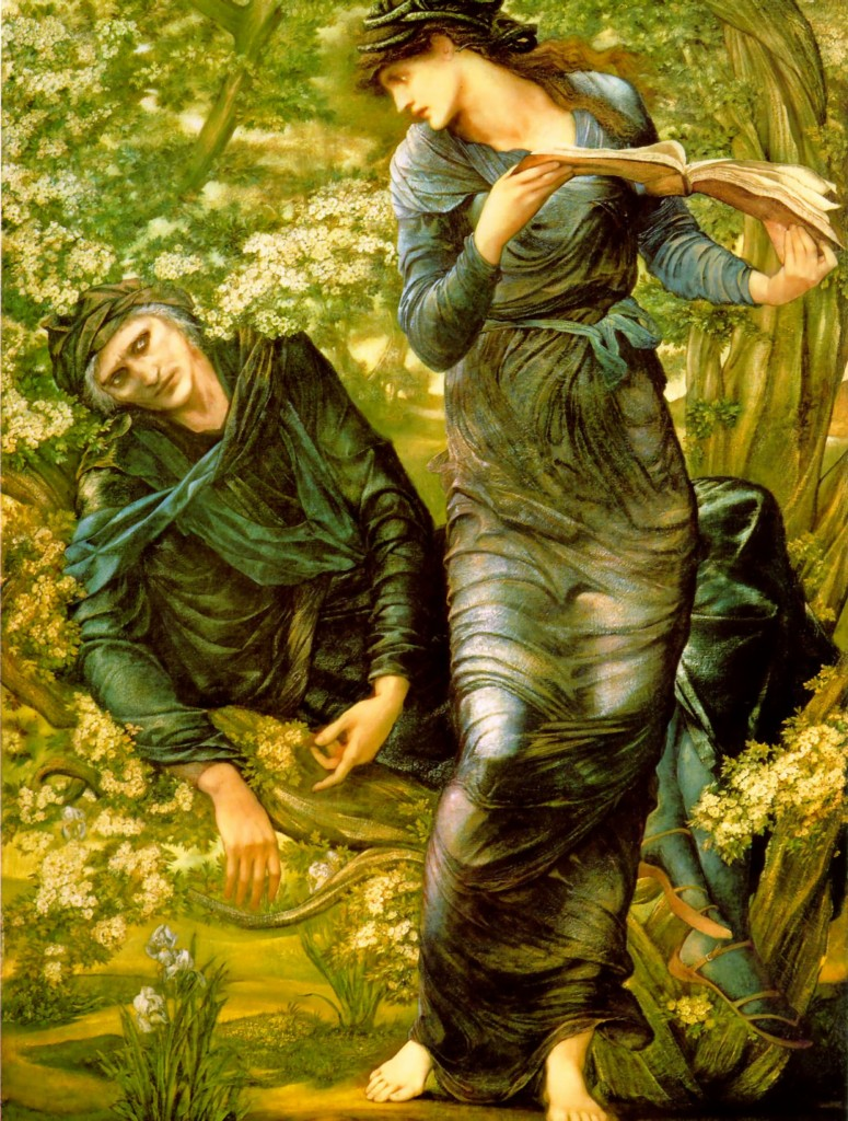 Maria Zambaco appears as Nimue in Burne-Jones' 'The Beguiling of Merlin'