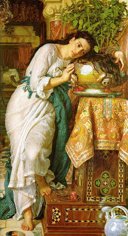 Isabella and the Pot of Basil, William Holman Hunt (1868)