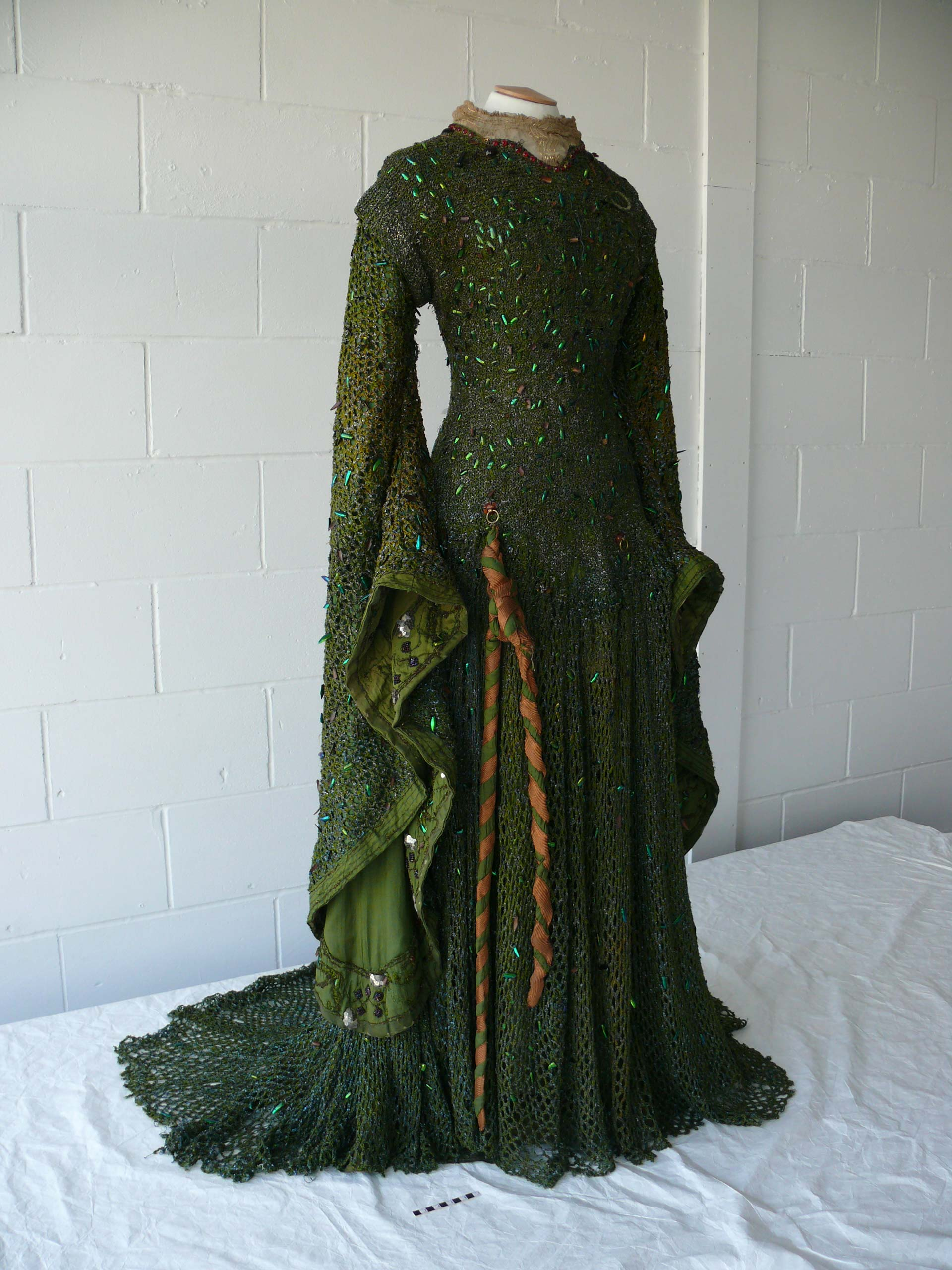 Ellen Terry's 'Lady Macbeth' dress prior to restoration.