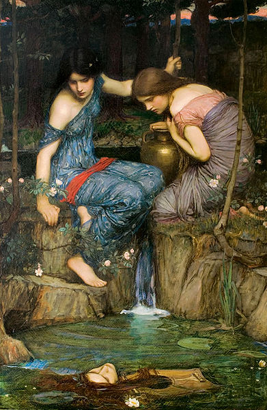 'Nymphs Finding the Head of Orpheus' (John William Waterhouse)