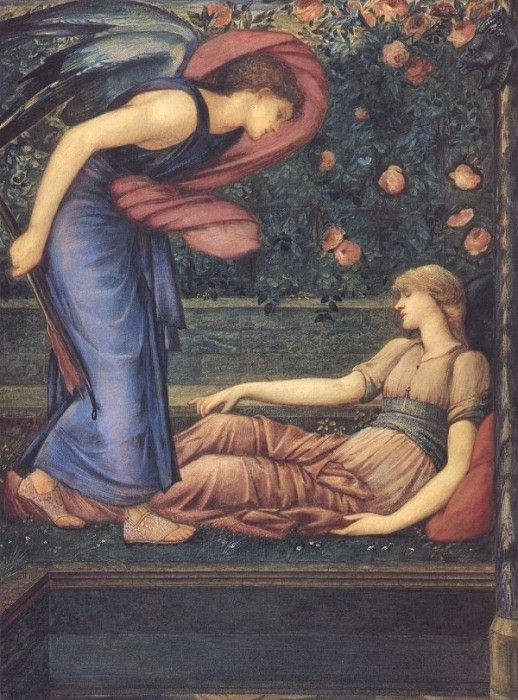 'Cupid Gazing at Psyche',Sir Edward Burne-Jones