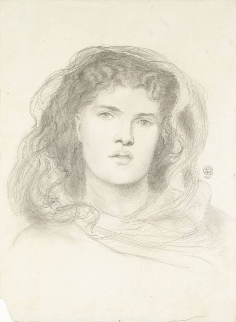 Study for 'The Bride' 1865 by Dante Gabriel Rossetti 1828-1882