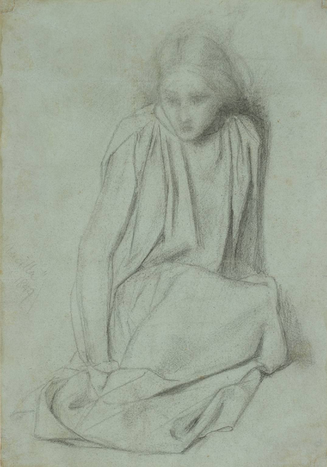 Study for 'Ecce Ancilla Domini! (The Annunciation)' circa 1849 by Dante Gabriel Rossetti 1828-1882