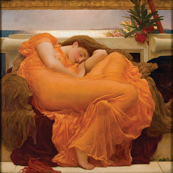 Frederick, Lord Leighton's 'Flaming June'.  See full post: The Art of Slumber