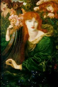 Alexa Wilding in Dante Gabriel Rossetti's 'La Ghirlandata'