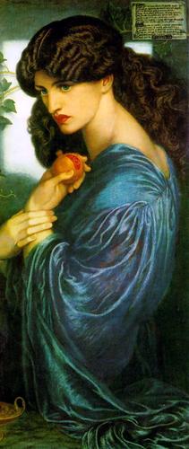 Jane Morris as Proserpine, 1874, Dante Gabriel Rossetti