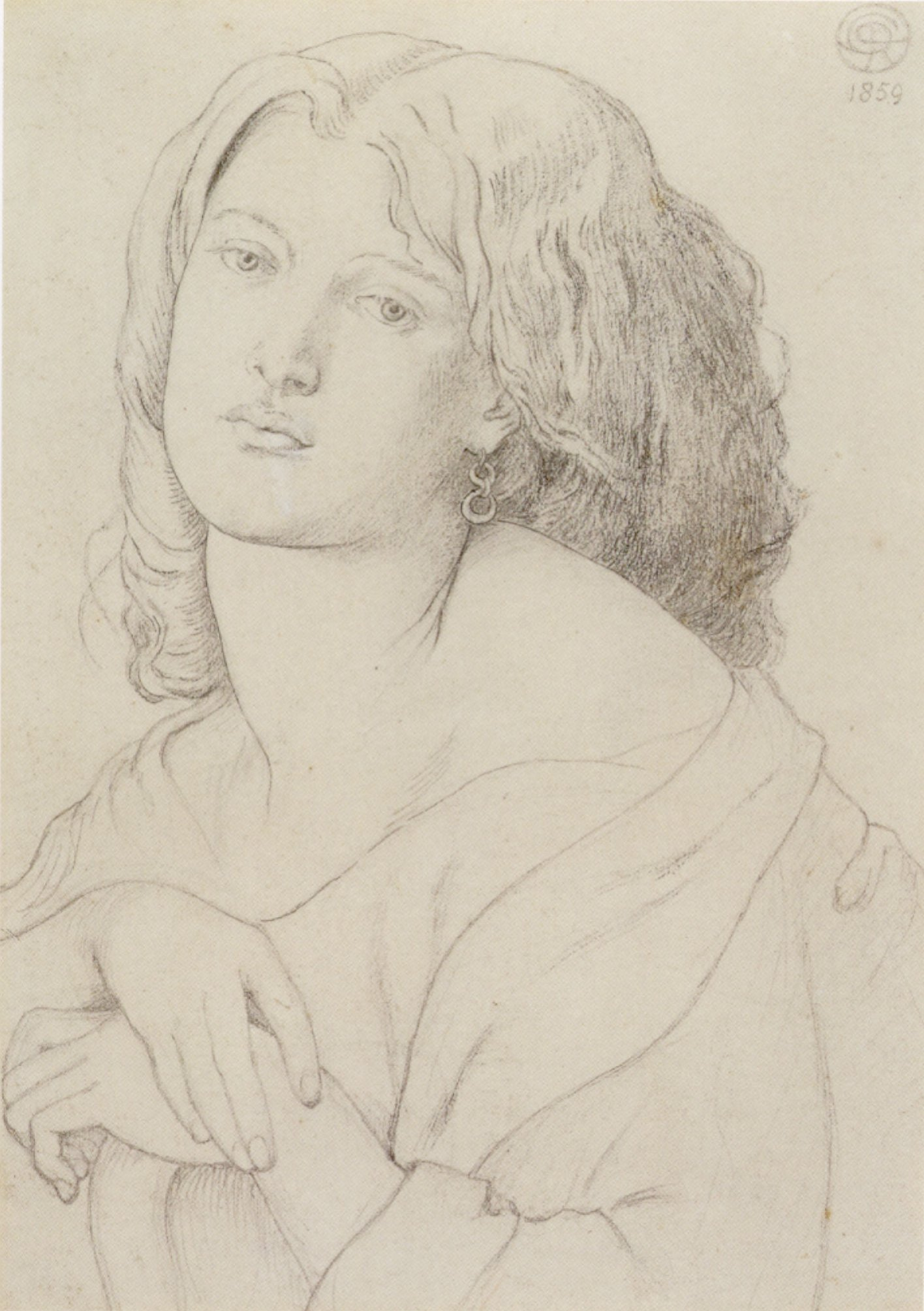 Drawing of Fanny Cornforth by Dante Gabriel Rossetti