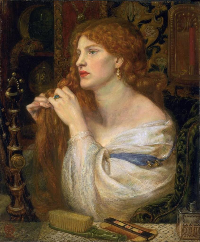 Fazio's Mistress, Dante Gabriel Rossetti. Model: Fanny Cornforth