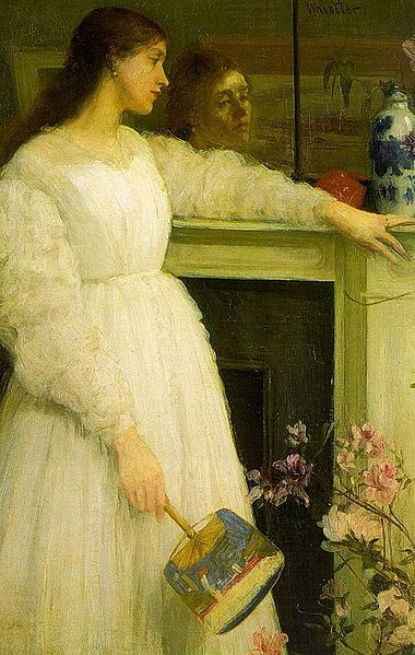 Symphony in White, No. 2 by Whistler.  Also known as The Little White Girl