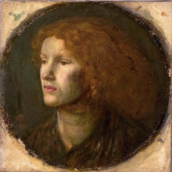 Portrait of Fanny Cornforth, circa 1860. Dante Gabriel Rossetti