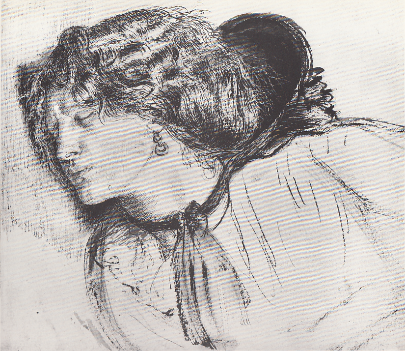 "Study for 'Found"", Dante Gabriel Rossetti"