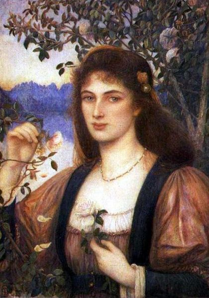 'The Rose from Armida's Garden', Marie Spartali Stillman