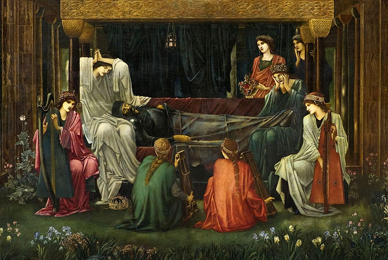 Detail of 'The Last Sleep of Arthur in Avalon', Sir Edward Burne-Jones