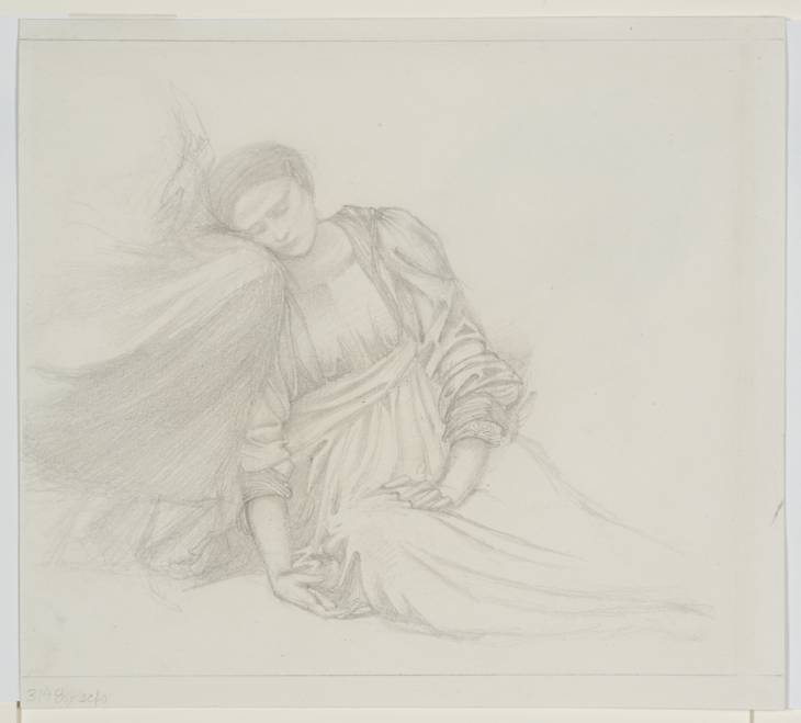 Study for a figure in Burne-Jones' Briar Rose series