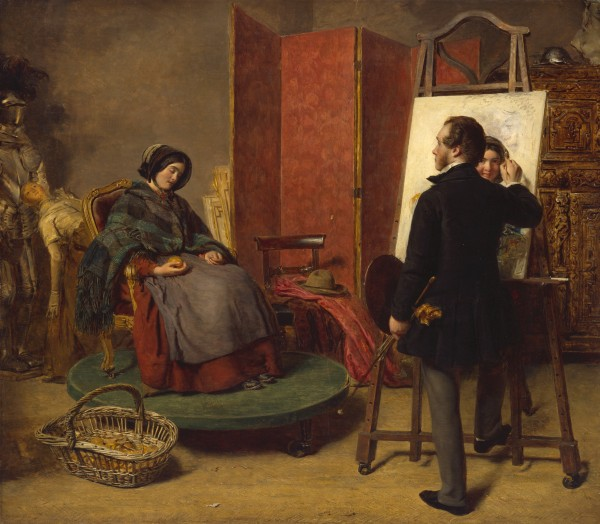 'The Sleeping Model', William Powell Frith