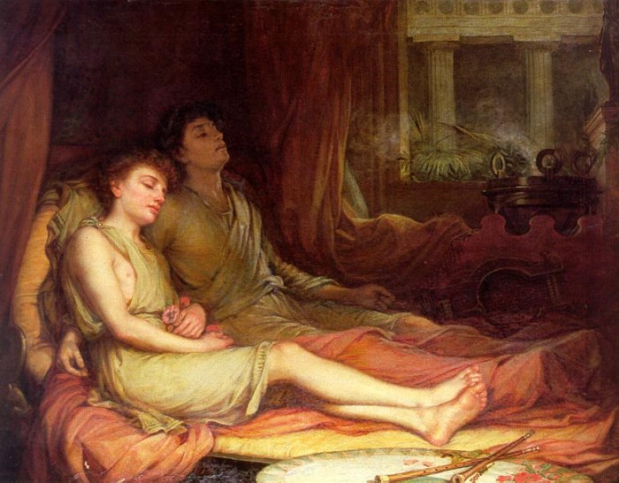 'Sleep and his Half-Brother Death', John William Waterhouse