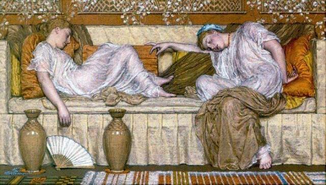 'A Sofa', Albert Joseph Moore