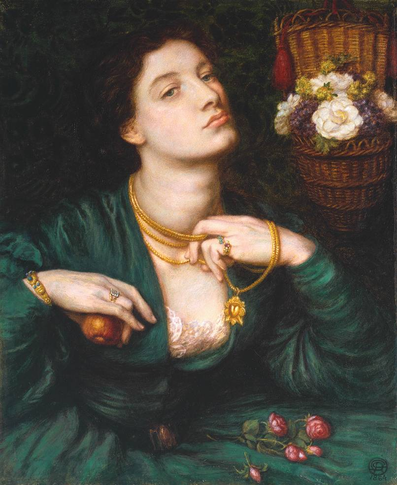 The bracelet worn in 'Monna Vanna' was first seen in Rossetti's 'Monna Pomona'.