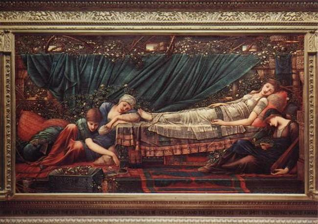 'The Rose Bower', Sir Edward   Burne-Jones