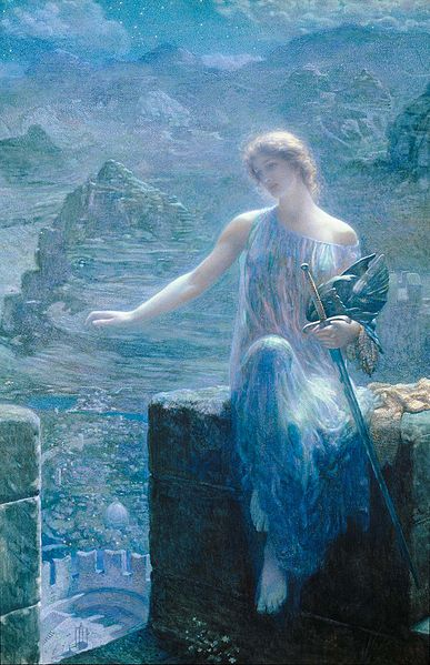 'The Valkyrie's Vigil', Edward Robert Hughes