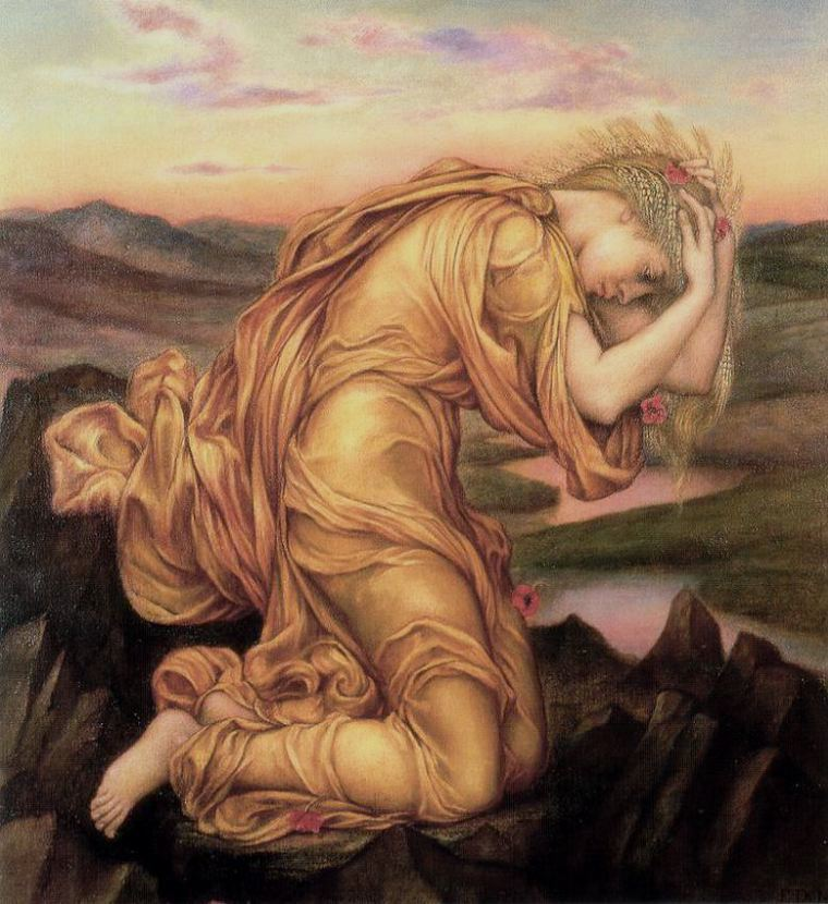 'Demeter Mourning for Persephone' by Evelyn De Morgan