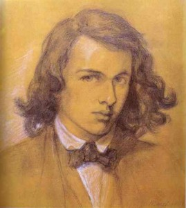 Self portrait of Dante Gabriel Rossetti at age eighteen.