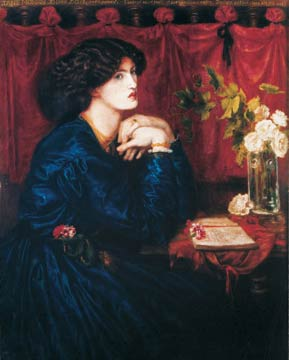 'The Blue Silk Dress', Dante Gabriel Rossetti