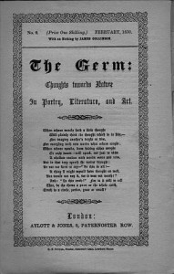 Title page of 'The Germ', courtesy Rossetti Archive (rossettiarchive.org)