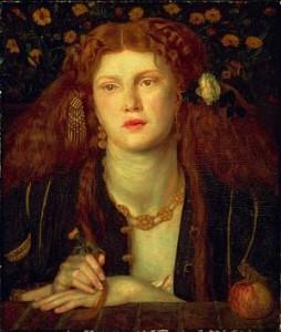 'Bocca Baciata', Dante Gabriel Rossetti. Model: Fanny Cornforth