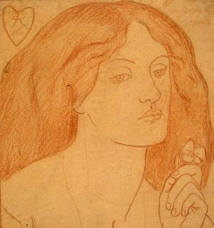 A red chalk tracing of Regina Cordium at Birmingham Museums