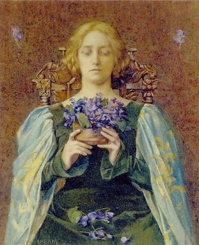 Rheam,_Henry_Meynell_-_Violets_-_1904