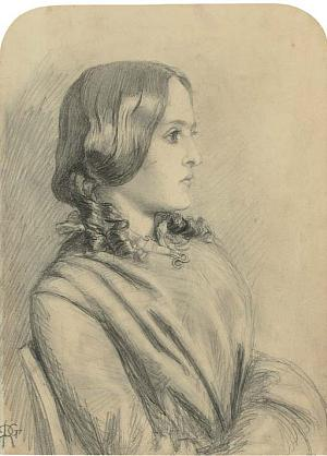 Margaret Thompson Hannay, drawn by Dante Gabriel Rossetti