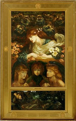 'The Blessed Damozel', Dante Gabriel Rossetti. Based on his poem by the same name.