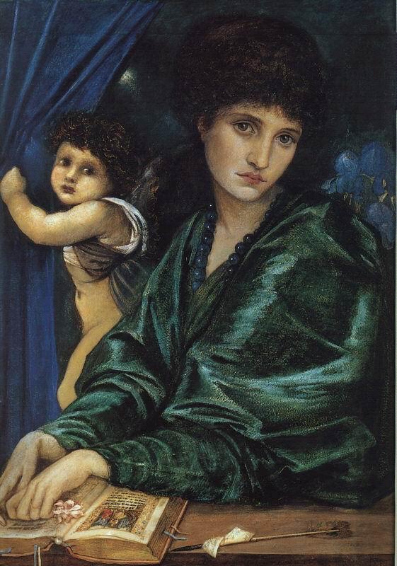 Maria Zambaco, Cupid and Psyche, Dante Gabriel Rossetti