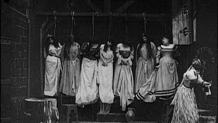Scene from Barbe-bleue in which the bride finds her predecessors' bodies.