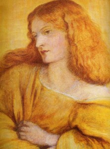 Annie Miller in Dante Gabriel Rossetti's painting 'Woman in Yellow'